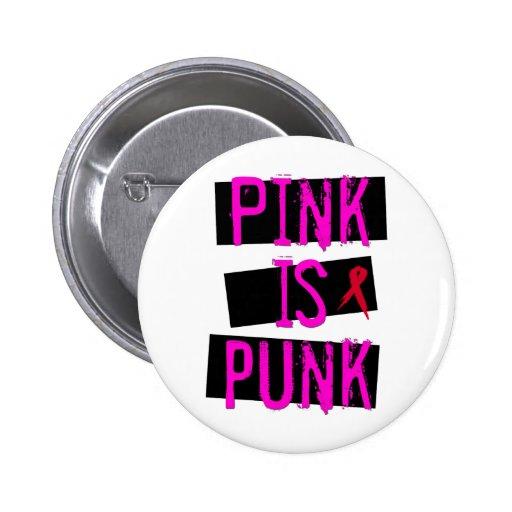 Le rose est bouton punk pin's