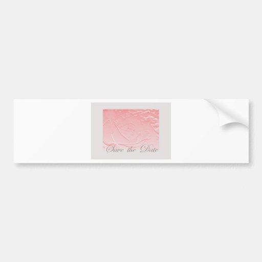 Le rose et le gris font gagner la date Edwardian r Autocollants Pour Voiture