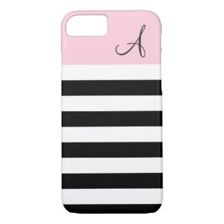 Le rose et le noir ont barré la caisse de l'iPhone Coque iPhone 7