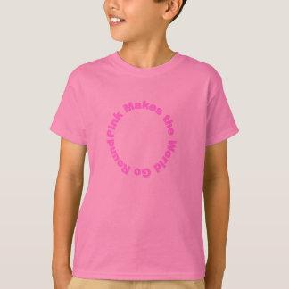 Le rose fait le monde tourner t-shirt