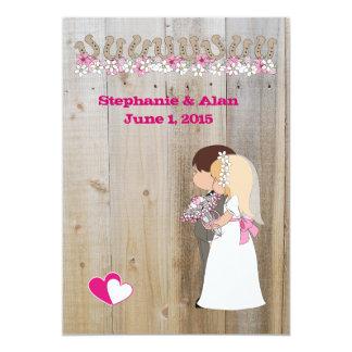Le rose fleurit le faire-part de mariage carton d'invitation  12,7 cm x 17,78 cm