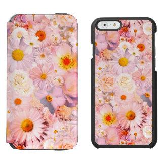 Le rose fleurit le ressort nuptiale de mariage coque-portefeuille iPhone 6 incipio watson™