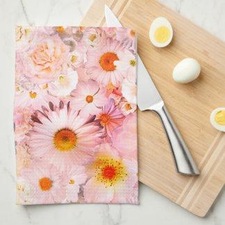 Le rose fleurit le ressort nuptiale de mariage linge de cuisine