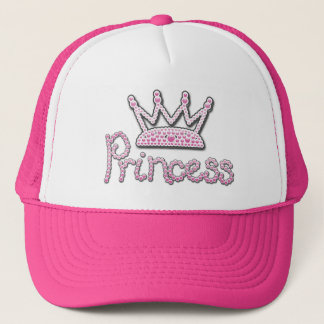 Le rose mignon imprimé perle princesse Crown Casquette