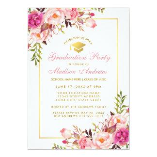 Le rose rougissent invitation florale de fête de