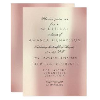 Le rose sensible en soie de rose rougissent carton d'invitation  11,43 cm x 15,87 cm