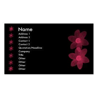 Le rose transparent fleurit le carte de visite