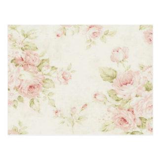 Le rose vintage de rose fleurit floral chic carte postale