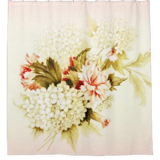 Le rose vintage fleurit le rideau en douche