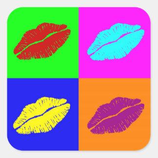 Le rouge à lèvres embrasse des autocollants
