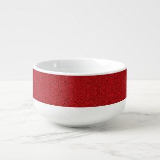 le rouge bouillonne tasse de soupe