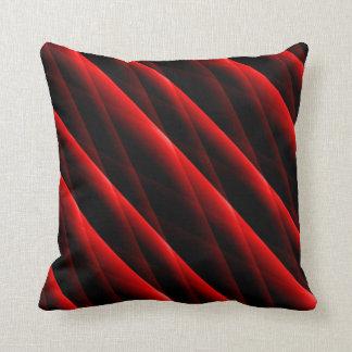 Le rouge cramoisi a piqué le coussin carré moderne