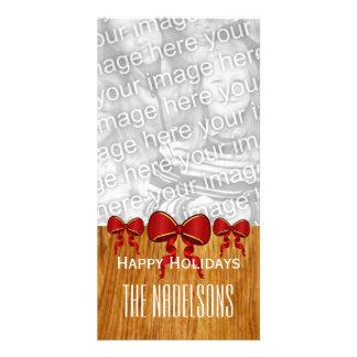 Le rouge de GROUPON cintre le Joyeux Noël V8 Photocartes