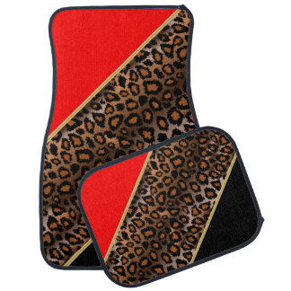 Le rouge | du poster de animal | de Jaguar Tapis De Voiture