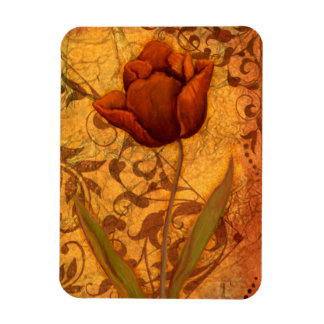 Le rouge fleurit II Magnets Rectangulaire