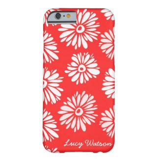 Le rouge fleurit la caisse de l'iPhone 6 Coque iPhone 6 Barely There