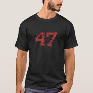 Le rouge folâtre Jerzee le numéro 47 T-shirt
