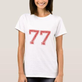 Le rouge folâtre Jerzee le numéro 77 T-shirt