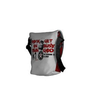 Le rouge obtiennent à Dieu occupé le mini sac Sacoche