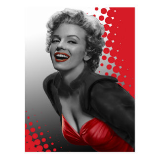 Le rouge pointille Marilyn Carte Postale