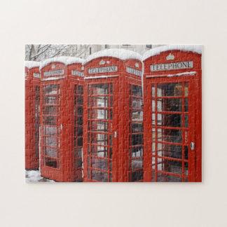 Le rouge téléphone près de Big Ben Puzzle