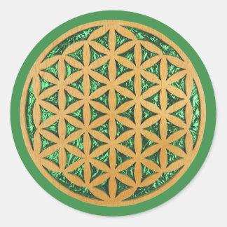 Le rouleau de découpage en bois a vu l'art de la sticker rond