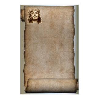 Le rouleau du Jésus-Christ, couronne des épines Motifs Pour Papier À Lettre