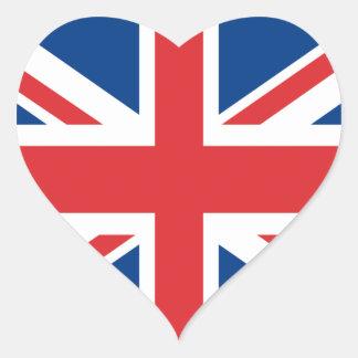 Le Royaume-Uni Sticker Cœur