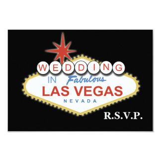 Le rsvp de mariage de Vegas carde la norme 3,5 x 5 Cartons D'invitation