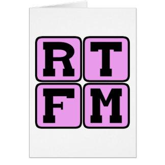 Le RTFM a lu l'acronyme manuel d'argot d'Internet Carte De Vœux