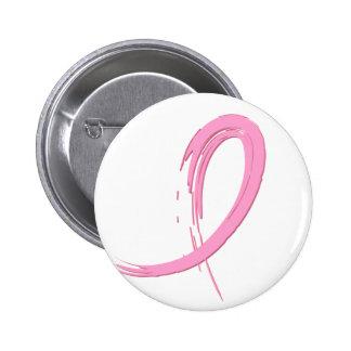 Le ruban rose A4 du cancer du sein Badge Rond 5 Cm