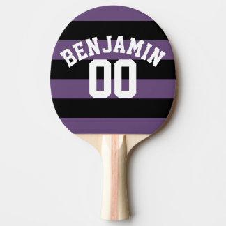 Le rugby noir et pourpre barre le nombre nommé raquette tennis de table