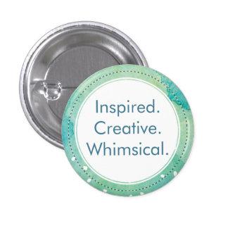 LE RW ; Inspiré. Créatif. Lunatique Badge