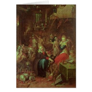 Le sabbat des sorcières, 1606 carte de vœux