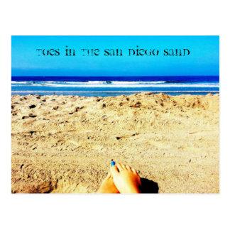 Le sable de plage de San Diego de carte postale