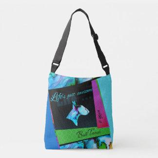 """Le sac coloré la """"vie de bull-terrier est"""
