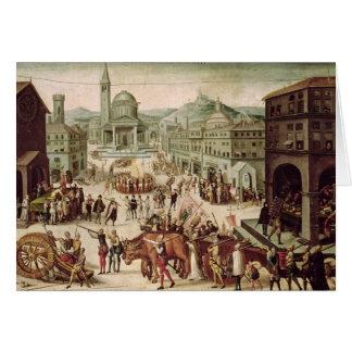 Le sac de Lyon par le DES Adrets de baron Carte De Vœux