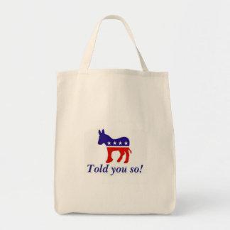"""Le sac fourre-tout, âne Democratic """"vous a"""
