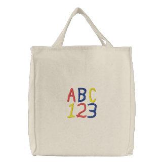 Le sac fourre-tout des enfants d'ABC 123