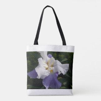 Le sac fourre-tout pourpre à iris
