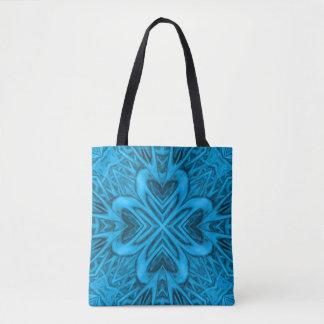 Le sac fourre-tout vintage à kaléidoscope de bleus