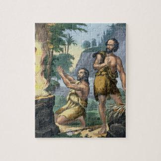 Le sacrifice de Caïn et d'Abel, d'une copie de bib Puzzle