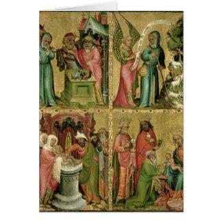 Le sacrifice de Joachim, la circoncision de Carte De Vœux
