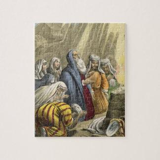 Le sacrifice de Noé sur laisser l'arche, d'une bib Puzzle