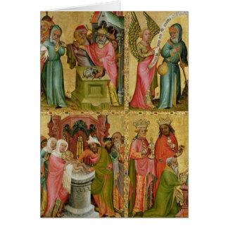 Le sacrifice et la circoncision de Joachim du Carte De Vœux
