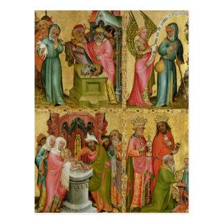 Le sacrifice et la circoncision de Joachim du Carte Postale