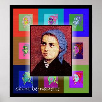 Le saint Bernadette d'art de bruit Posters
