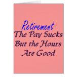 Le salaire de retraite suce des heures bonnes carte de vœux