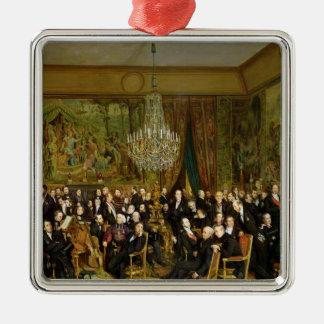 Le salon d'Alfred Emilien, Comte De Ornement Carré Argenté