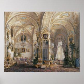 Le salon dans le style des rococos II, avec des Posters